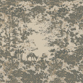 Houndstooth Fawn Grove Sage Wallpaper ML1305