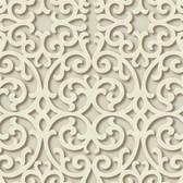 TD4724 Dimensional Effects Fortuna Buttermilk Wallpaper