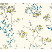 Watercolors WT4532 SOFT BLOSSOMS  Wallpaper