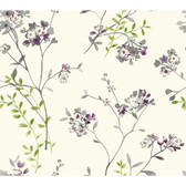 Watercolors WT4535 SOFT BLOSSOMS  Wallpaper
