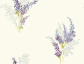 white & purple & blues & yellow green & grey Watercolors Delphinium Wallpaper
