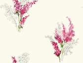 white & magenta & pink & yellow & green & green & grey Watercolors Delphinium Wallpaper