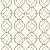 Watercolors Lattice Ivory Wallpaper WT4621
