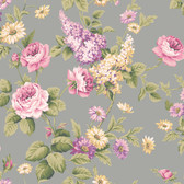 Callaway Cottage CT0844 Monogram Rose Wallpaper
