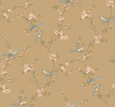 Callaway Cottage CT0869 Floral Branches W/Birds Wallpaper