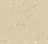 Handpainted III Birds W/Blossoms Hazelwood-Cream Wallpaper HP0325