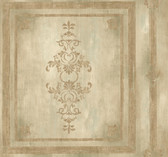 Handpainted III Architectural Panel Amber Wallpaper HP0382