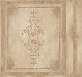Handpainted III Architectural Panel Walnut Wallpaper HP0383