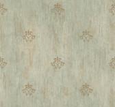 Handpainted III Classic Fleur De Lis Stone Wallpaper HP0388