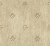 Handpainted III Classic Fleur De Lis Oat Wallpaper HP0390