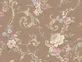 HYDE PARK PL4601 FLORAL SCROLL WALLPAPER