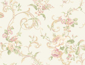 HYDE PARK PL4603 FLORAL SCROLL WALLPAPER