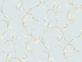 HYDE PARK PL4608 FLORAL SCROLL COMPANION WALLPAPER