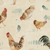 Norwall FK34434 Chicks barnyard chickens in blue, yellow & red