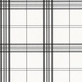 Norwall KV27425 Window Plaid large open plaid, black on white background