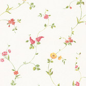 Norwall FK26958 Rosy Daisy floral vine, mixed flowers flowng