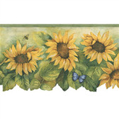 Norwall BG71361DC Sun After Sun border with sunflower and insects