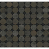 CX1276 - Candice Olson Dimensional Surfaces Textured Circles Wallpaper - Black/Brown