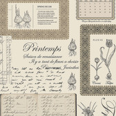 Norwall FK34419 Springtime botanical plates and springtime written in four languages
