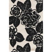 CX1304 - Candice Olson Dimensional Surfaces Flocked Floral Wallpaper - Cream Metallic/Black