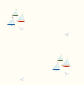 Chesapeake - Arthur Red Sailboat Spot Toss Wallpaper BYR95701