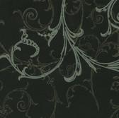 Harmony Black Swirl Wallpaper HMY57657