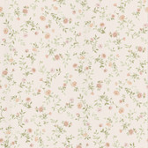 Dollhouse VIII 487-49229 Sophie Peach Floral Toss wallpaper