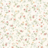 Dollhouse VIII 487-68880 Sophie Salmon Floral Toss wallpaper