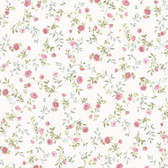 Dollhouse VIII 487-68882 Sophie Pink Floral Toss wallpaper