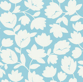 Echo Design 566-43941 Freesia Aqua Fun Floral wallpaper