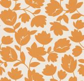 Echo Design 566-43946 Freesia Orange Fun Floral wallpaper