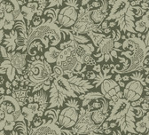 Echo Design 566-43962 Bali Brown Scrolling Pattern wallpaper