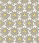 566-44900 Flower Power Light Grey Retro Floral wallpaper
