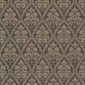 Echo Design 566-44923 Liesel Brown Damask wallpaper