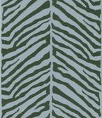 Echo Design 566-44928 Tailored Zebra Blue Herringbone Zebra wallpaper