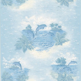 436-12807 - Honolulu Blue Dolphin wallpaper