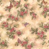 436-38574 - Lisa Magenta Butterfly Floral  wallpaper