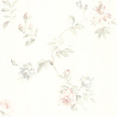 436-42314 - Adeline White Floral Trail wallpaper