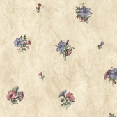 436-45104 - Petunia Purple Marble Floral wallpaper