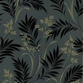 436-46937 - Midori Black Bamboo Silhouette wallpaper