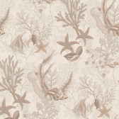 436-66631 - Percival Beige Ocean Scenic wallpaper