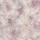 436-72722 - Bertrand Purple Satin Fern Texture wallpaper