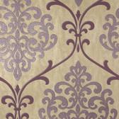 2542-20713 Ambrosia Mauve Glitter Damask  wallpaper