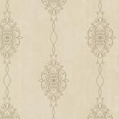 2542-20734 Alvina Brass Ironwork Stripe  wallpaper
