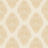 Simply Satin VI Bromley Satin Damask Linen Wallpaper 990-65010
