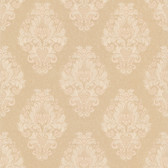 Simply Satin VI Bromley Satin Damask Tortilla Wallpaper 990-65011