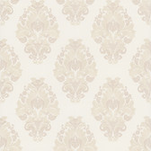 Simply Satin VI Bromley Satin Damask Salt Wallpaper 990-65014