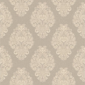Simply Satin VI Bromley Satin Damask Dove Wallpaper 990-65017