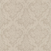 Simply Satin VI Cotswold Floral Damask Bone Wallpaper 990-65062
