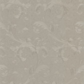 Simply Satin VI Isleworth Floral Scroll Grey Wallpaper 990-65094